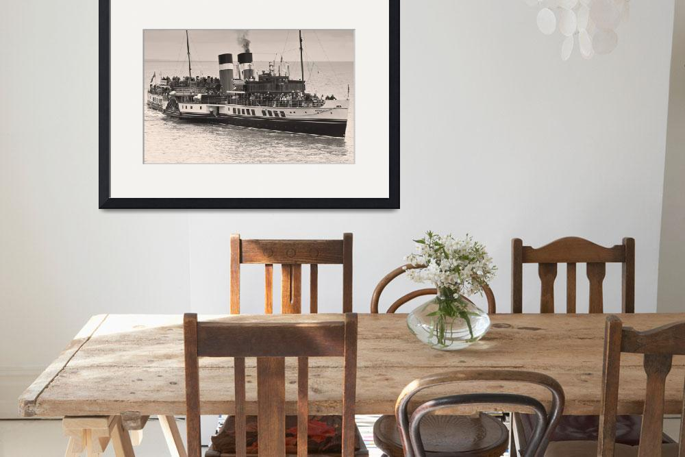 """""""The Waverley Paddle Steamer&quot  (2010) by StevePurnell"""