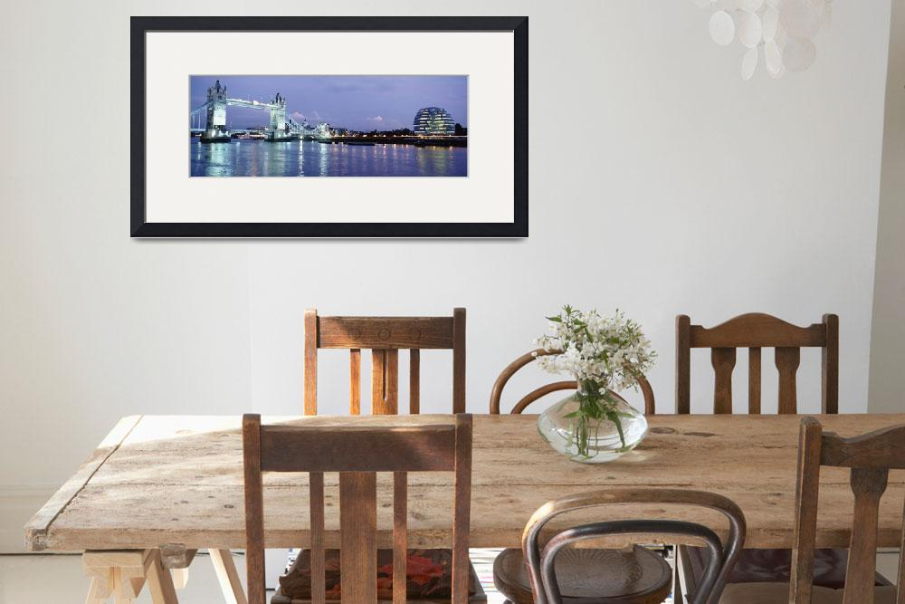 """""""Tower Bridge And The Greater London Authority Buil&quot  by DesignPics"""