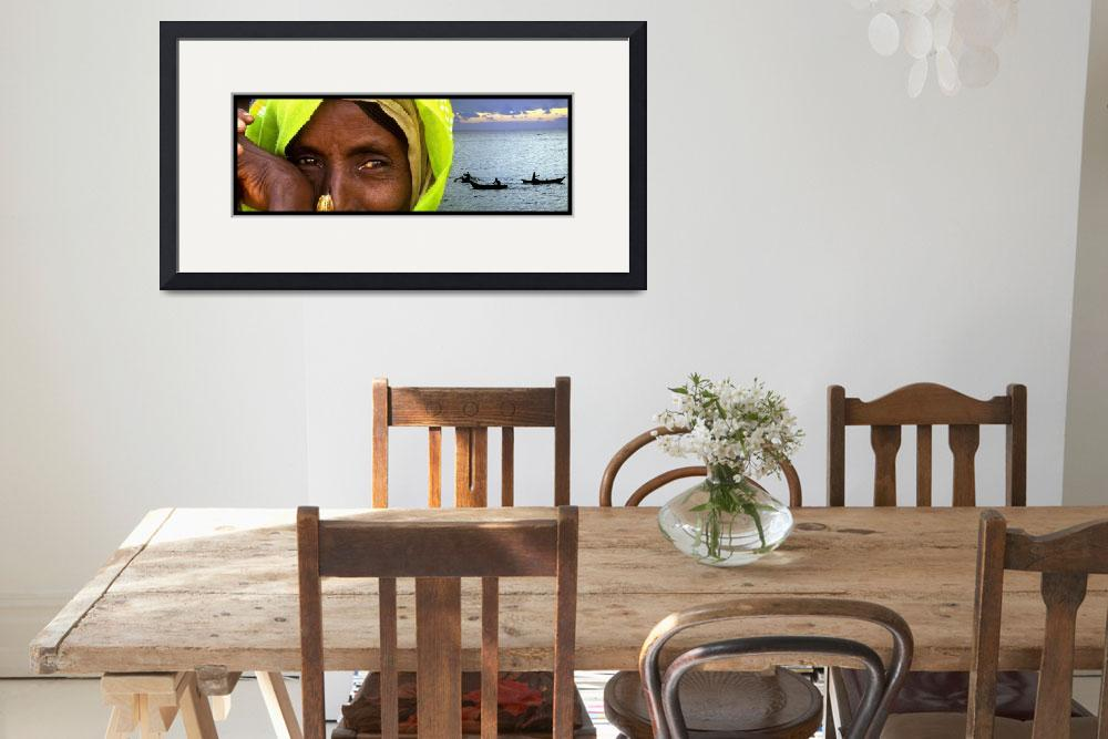 """""""Eyes of the World Ethiopian woman and landscape&quot  (2007) by ileneperlman"""