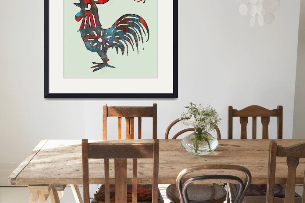 """The Chinese Lunar Year 12 Animal - Rooster art""  (2013) by visualharbour"