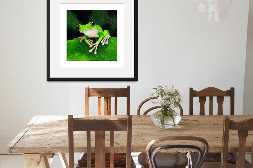 """""""Green Tree Frog 4&quot  by odessa"""
