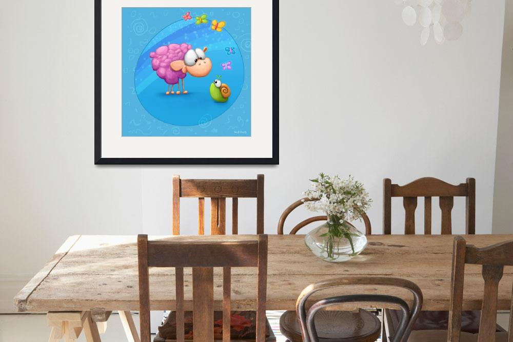"""""""Sheep and Snail&quot  by Tooshtoosh"""