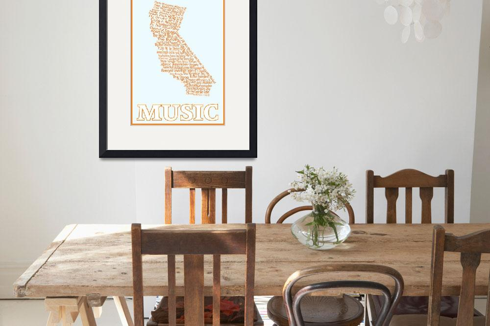 """""""California Musicians Map""""  (2015) by TrudyClementine"""