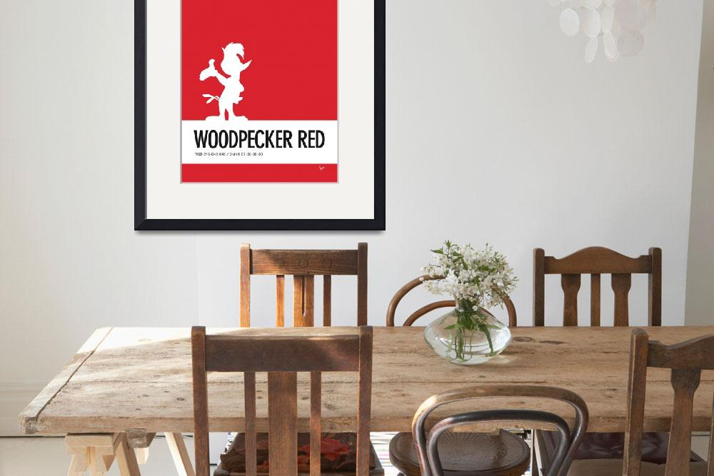 """""""No12 My Minimal Color Code poster Woody Woodpecker&quot  by Chungkong"""
