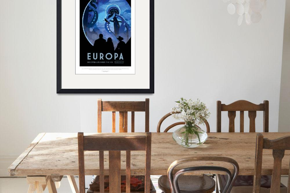 """Nasa Space Travel Europa&quot  by FineArtClassics"