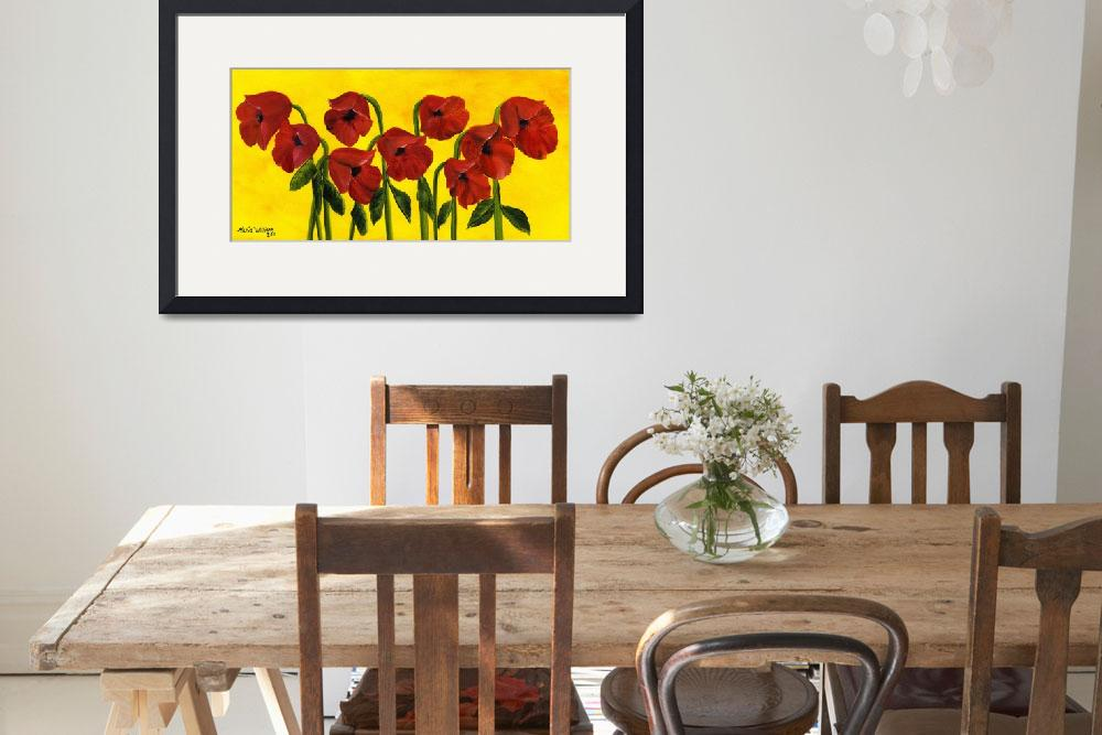 """""""Wistful Poppies""""  (2011) by mariawilliams"""