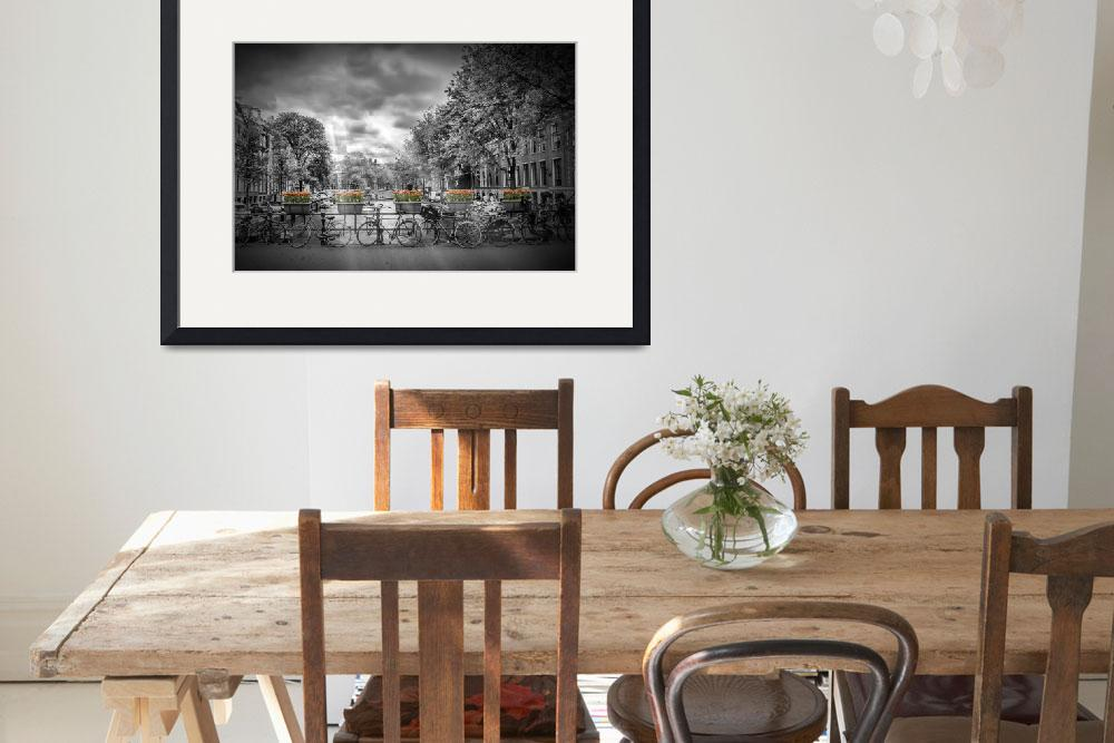 """""""AMSTERDAM Gentlemen's Canal   Typical Cityscape&quot  (2016) by MelanieViola"""