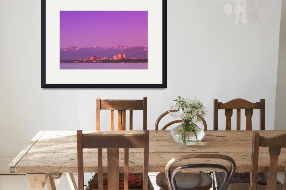 """""""Sunset Anchorage Skyline Summer Southcentral Alask&quot  by DesignPics"""