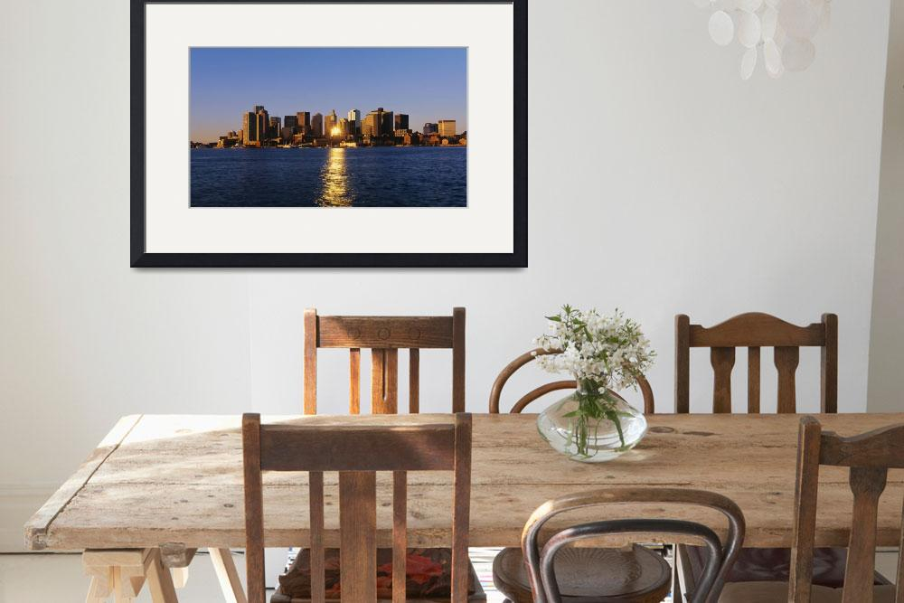 """Inner Harbor Boston MA&quot  by Panoramic_Images"