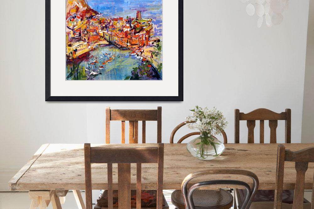 """""""Vernazza Italy Oil Painting by Ginette Callaway""""  (2006) by GinetteCallaway"""