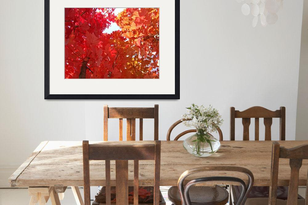 """FALL TREES Autumn Art Red Orange Leaves Landscape""  (2009) by BasleeTroutman"