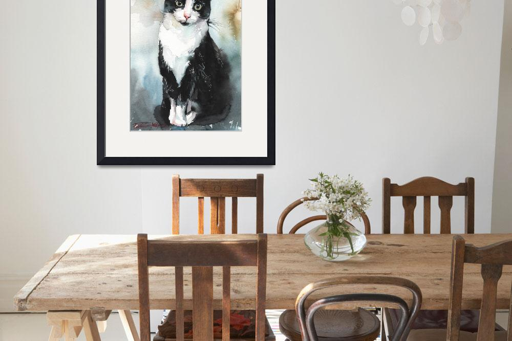 """""""Tuxedo Cat&quot  (2013) by creativeartistic"""