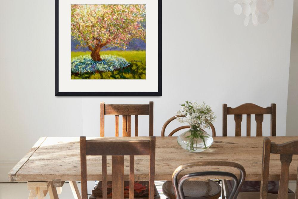 """Apple Tree Blooming&quot  (2012) by KimStenbergFineArt"