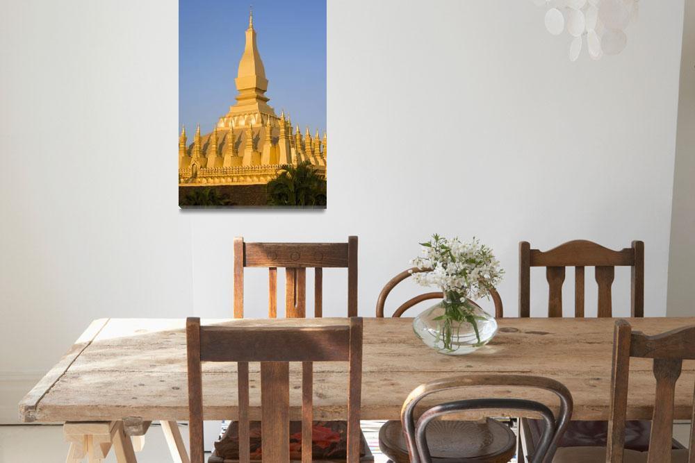 """That Luang,Or Grand Stupa, Vientiane, Laos&quot  by DesignPics"
