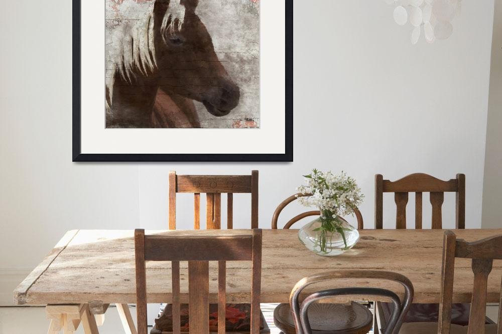 """Rustic Brown Horse&quot  by Aneri"
