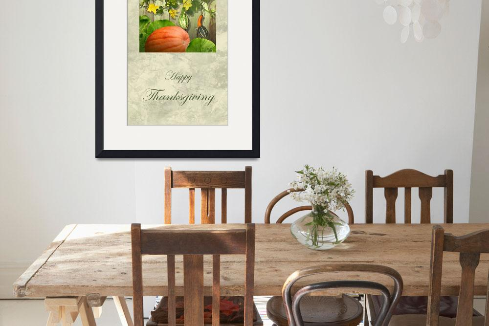 """""""Bountiful Gourds Thanksgiving Card&quot  (2010) by spadecaller"""
