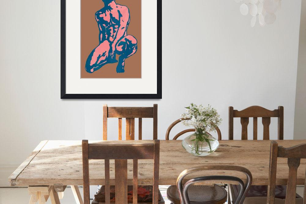 """gay etching style nude pop art  poster""  (2014) by visualharbour"