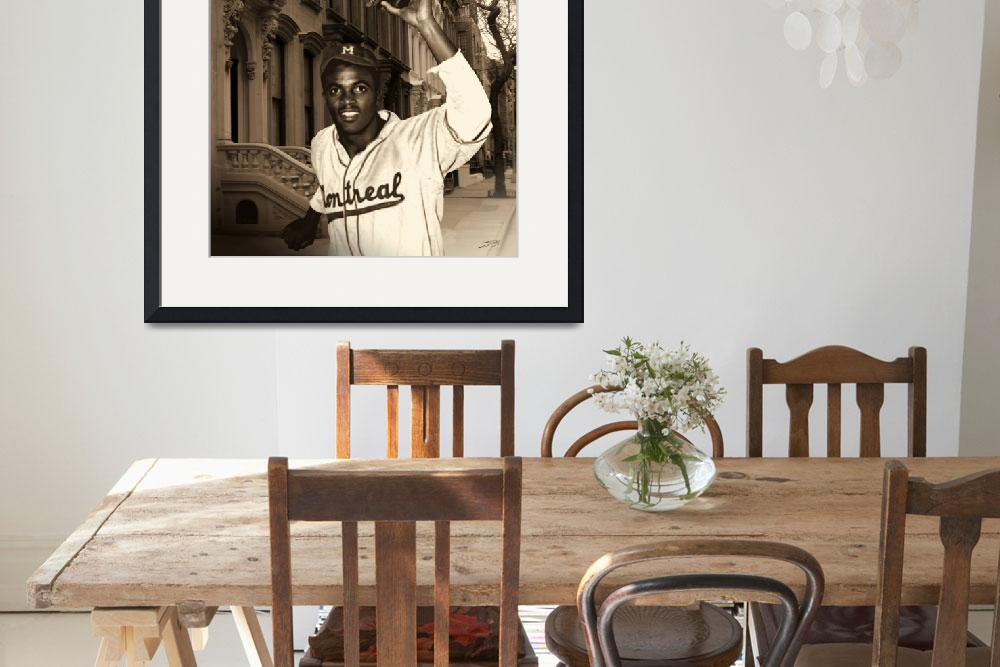 """""""Jackie Robinson Becomes a Brooklyn Dodger&quot  (2010) by spadecaller"""