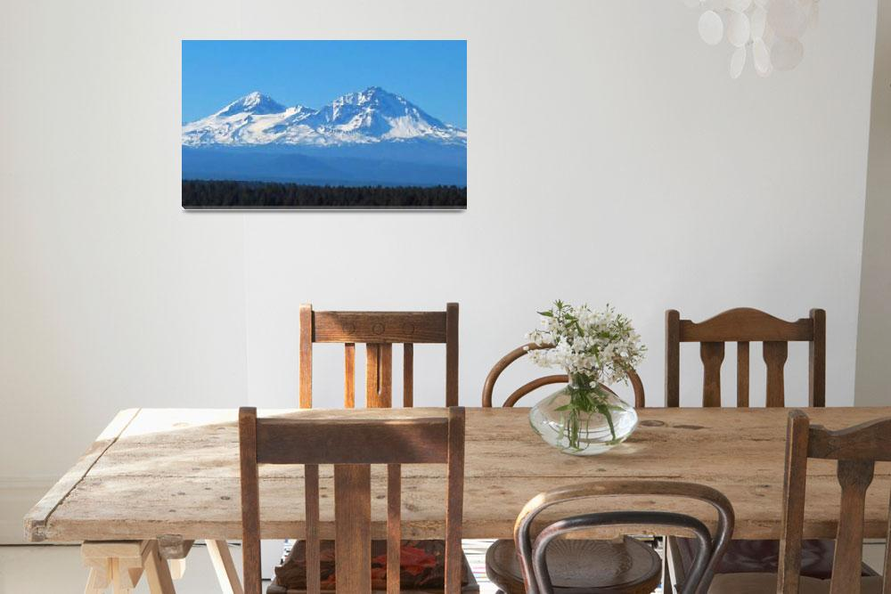 """""""Sisters Mountains - Oregon""""  (2008) by netbrands"""