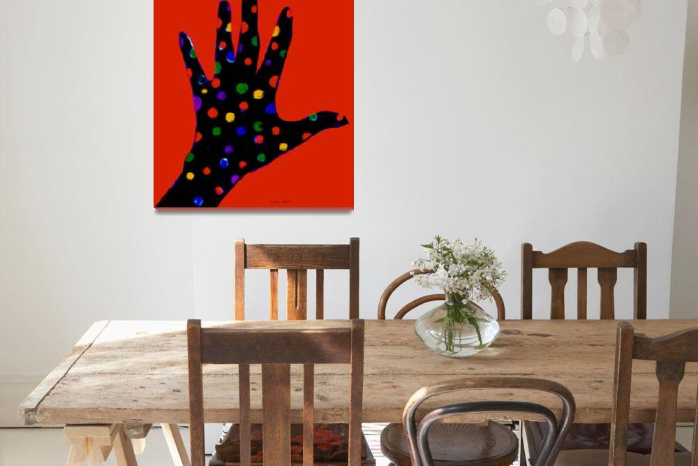 """Red Polka Dot Hand&quot  by ArtImagesbyLydia"