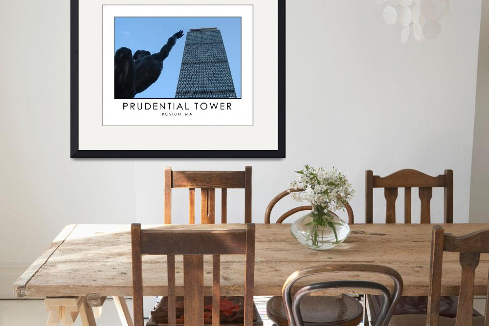 """Prudential Tower - Statue Reaching for the Top&quot  by astphotos"