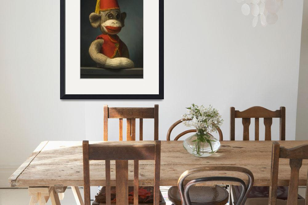 """""""Portrait of a Monkey with Fez&quot  (2009) by JonathanQueen"""