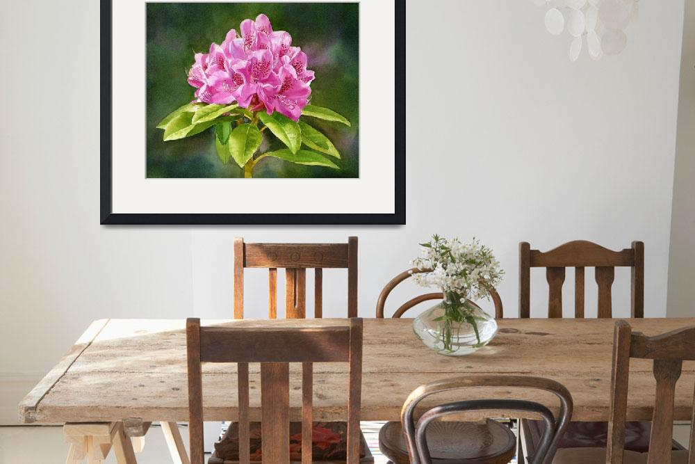 """""""Magenta Colored Rhododendron""""  (2014) by Pacific-NW-Watercolors"""