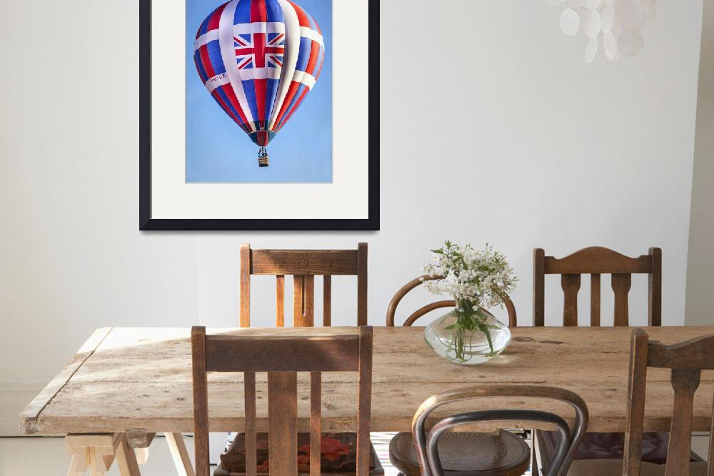"""""""Hot Air Balloon with Union Jack British Flag&quot  (2013) by lillisphotography"""