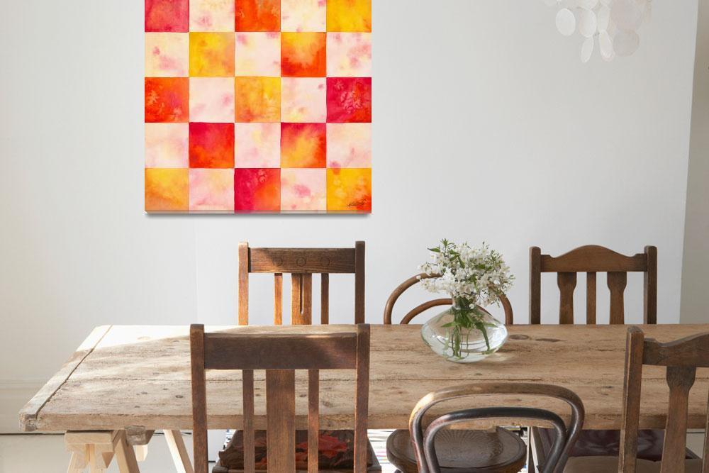 """CheckerBoard Watercolor""  (2008) by foxvox"