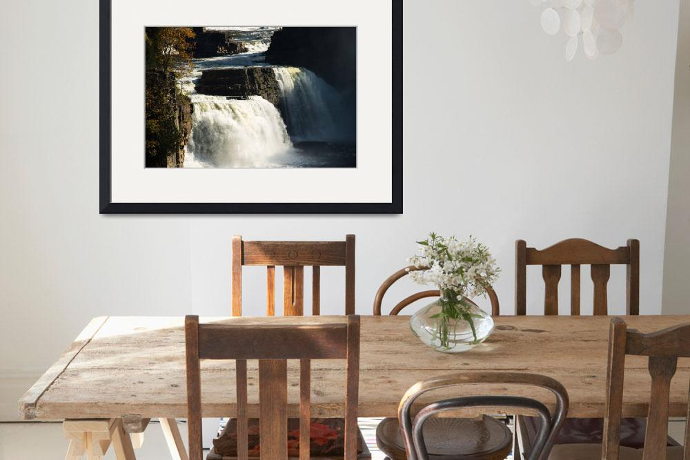 """""""Rainbow Falls at Ausable Chasm&quot  (2011) by ValeriesGallery"""
