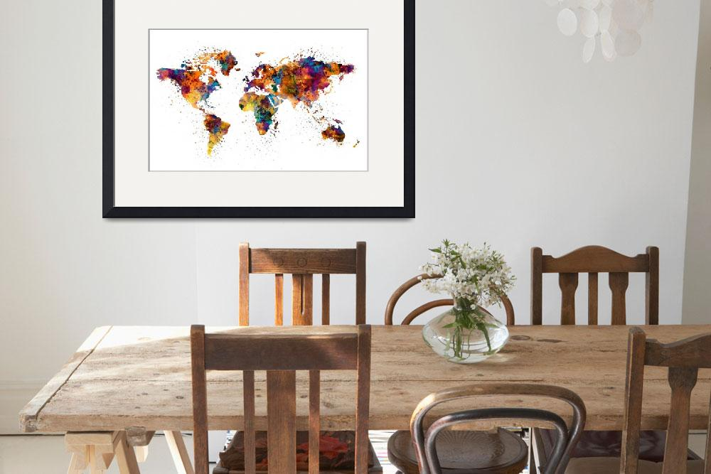 """""""World Map&quot  (2016) by MarianVoicu"""