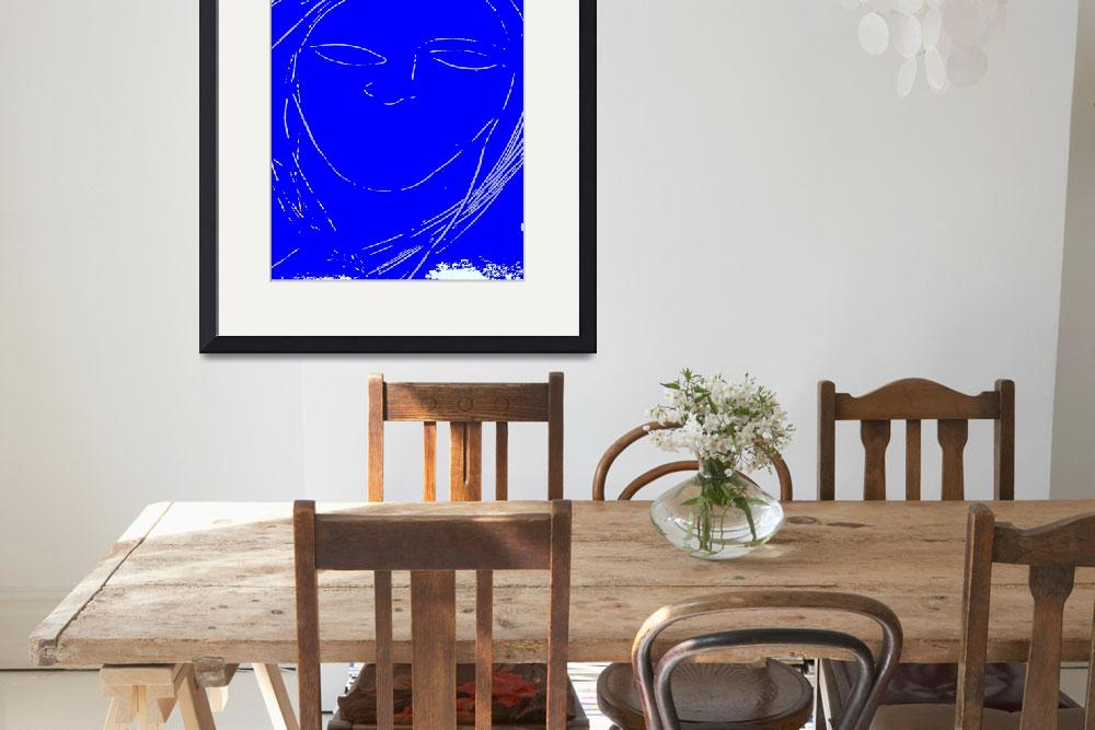 """""""Girl with Blue Face and No Lips&quot  (2011) by DavidGal"""