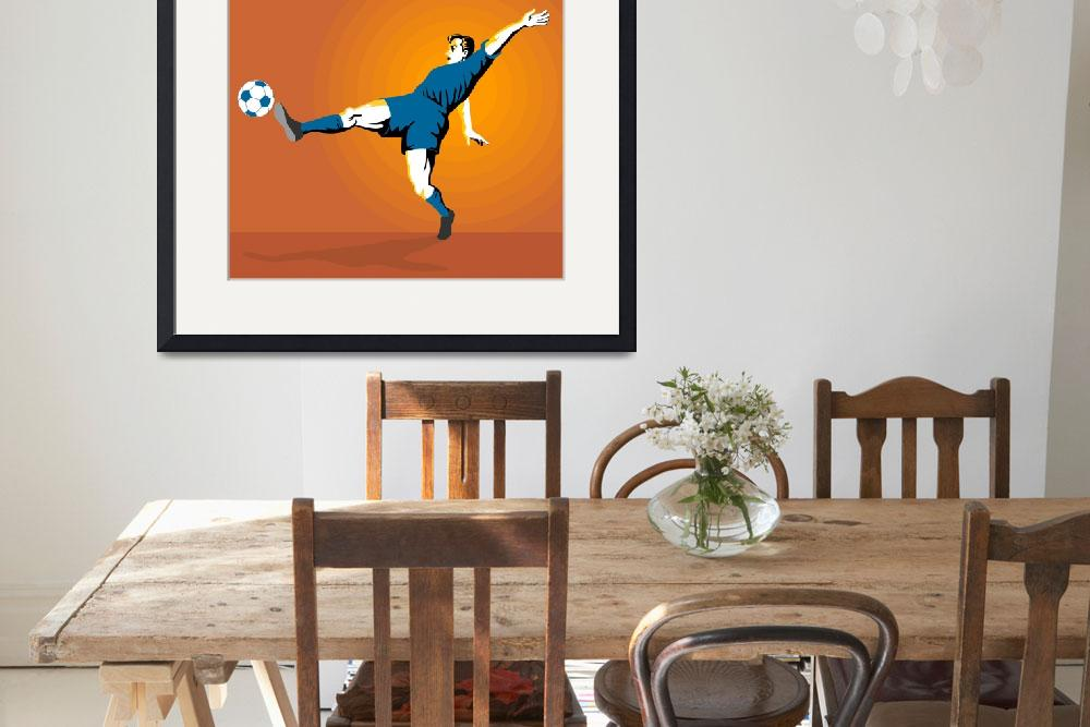 """""""Soccer Player Kicking&quot  (2013) by patrimonio"""