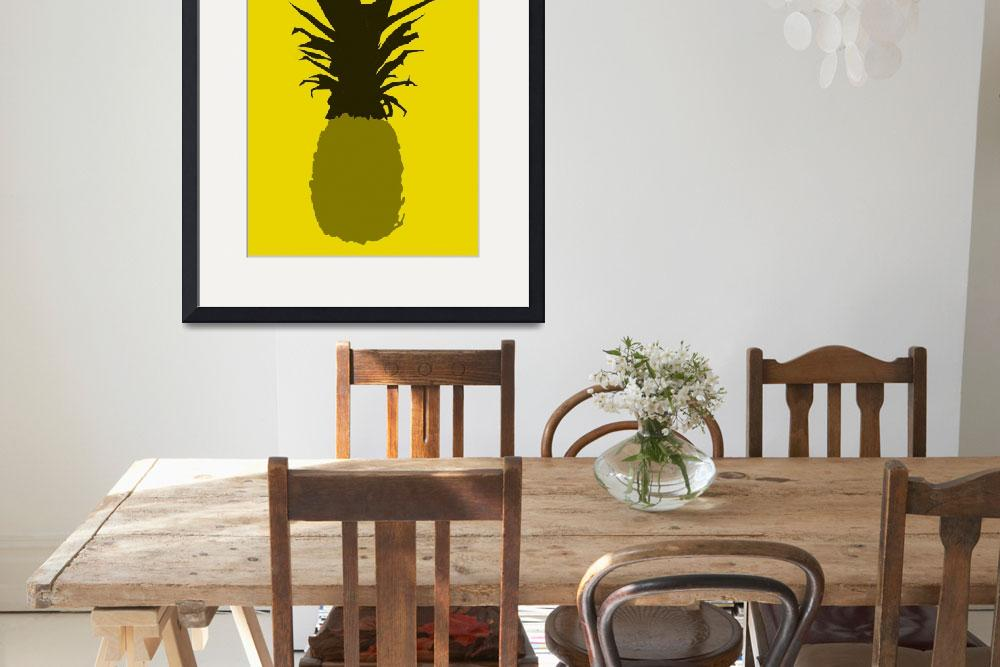 """""""Pineapple mustard brown gold (c)&quot  (2014) by edmarion"""