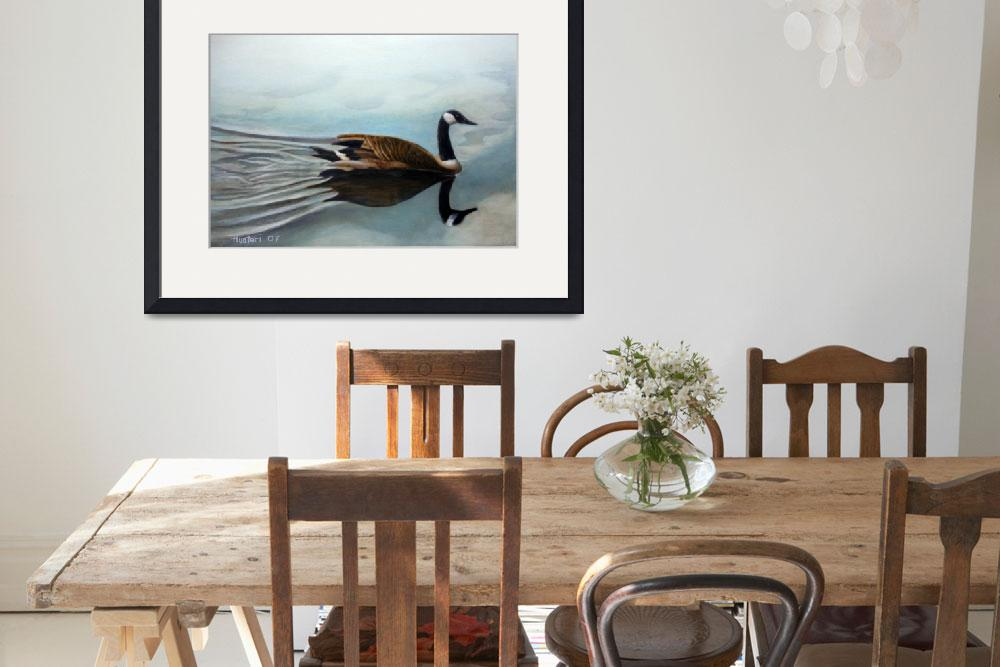 """""""Canadian Goose on St.Croix&quot  (2006) by Huotari"""