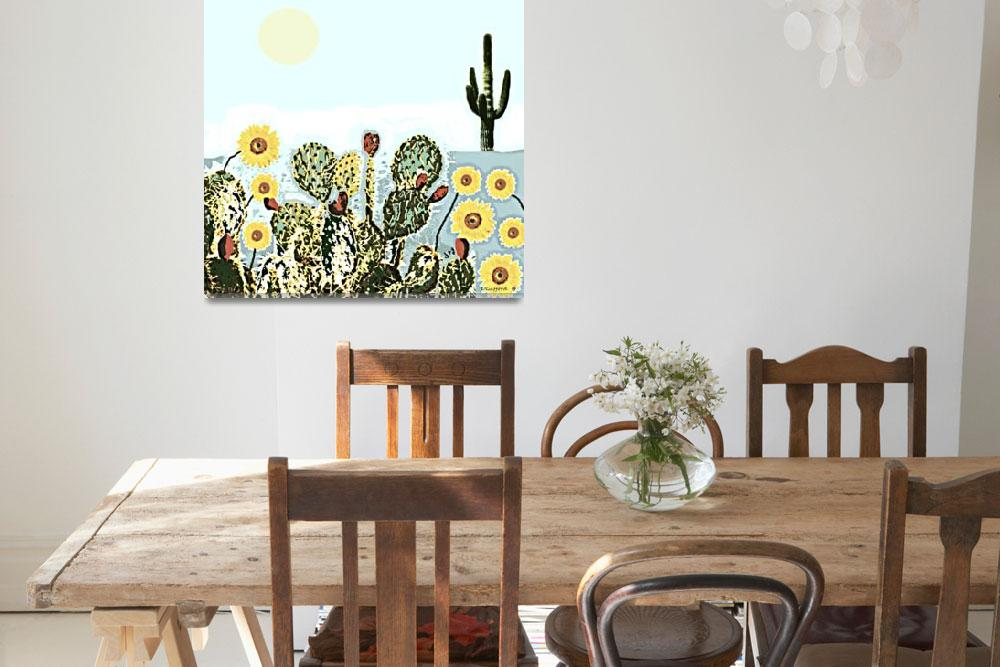 """""""Cactus & Sunflowers""""  (2018) by davegafford"""
