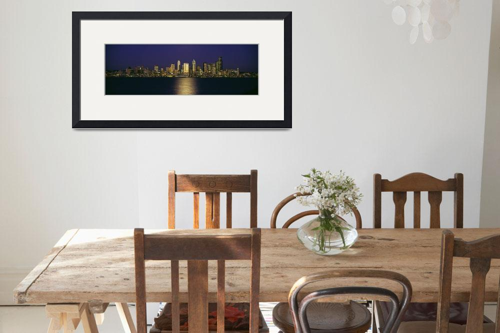 """""""""""Skyscrapers at the waterfront, Elliott Bay, Seatt&quot  by Panoramic_Images"""