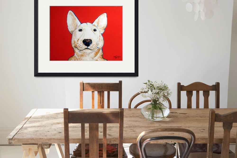 """BINGO BULL TERRIER""  (2009) by MBaldwinFineArt2006"