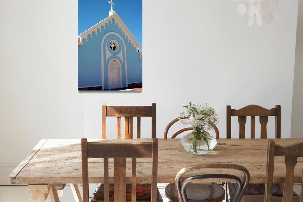 """The blue Church - Punta del este Uruguay""  by deloyartzphoto"
