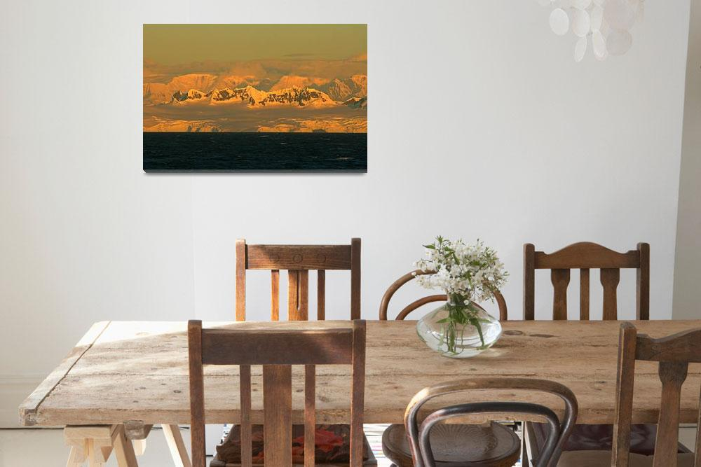 """Antarctic Sunset""  (2008) by kkcondon"