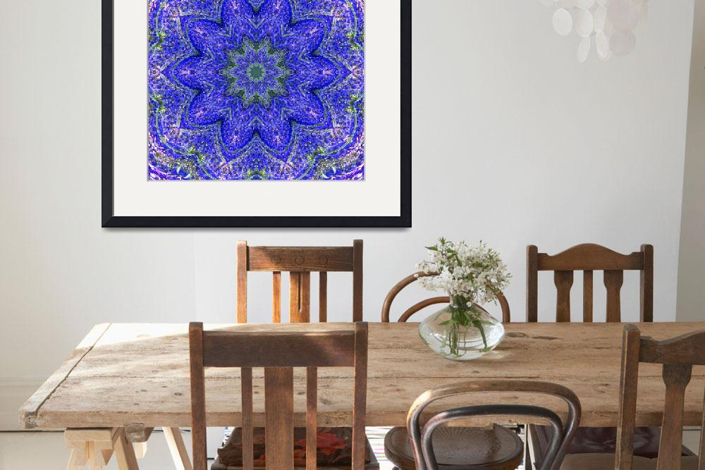 """""""Blue and Purple Lavender Floral Kaleidoscope&quot  (2010) by PhotographsByCarolFAustin"""