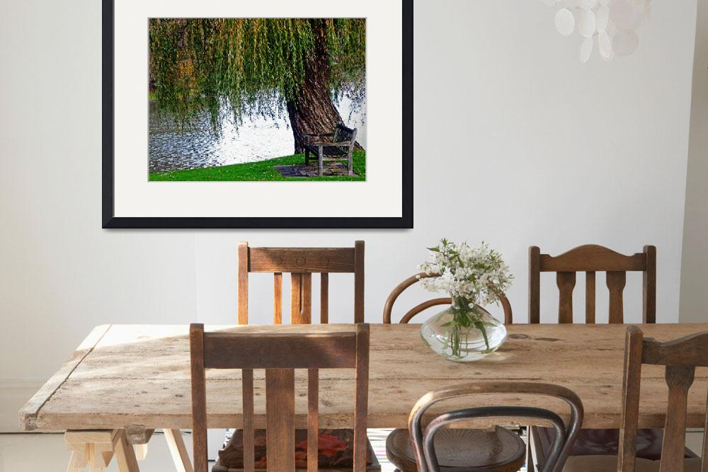 """""""Sit Under the Old Weeping Willow Tree Wall Art&quot  (2018) by PhotographsByCarolFAustin"""
