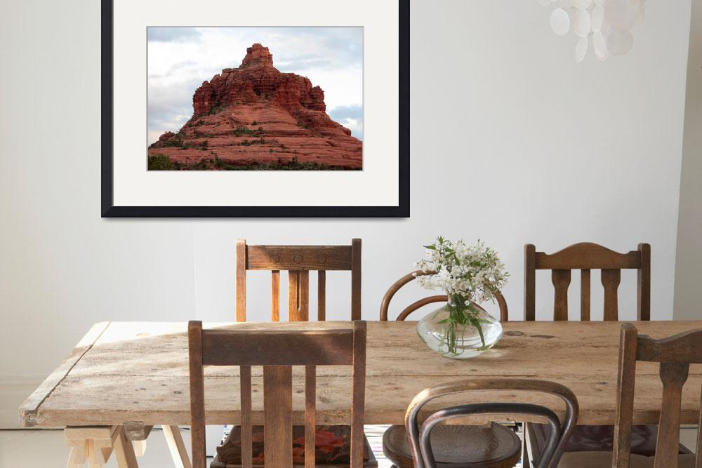 """Sedona Sandstone Mountain&quot  by Groecar"