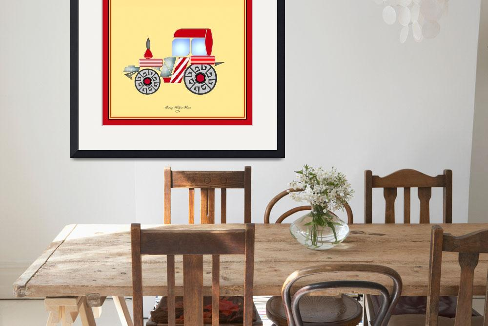 """""""Red Tractor""""  (2009) by SherryHolderHunt"""