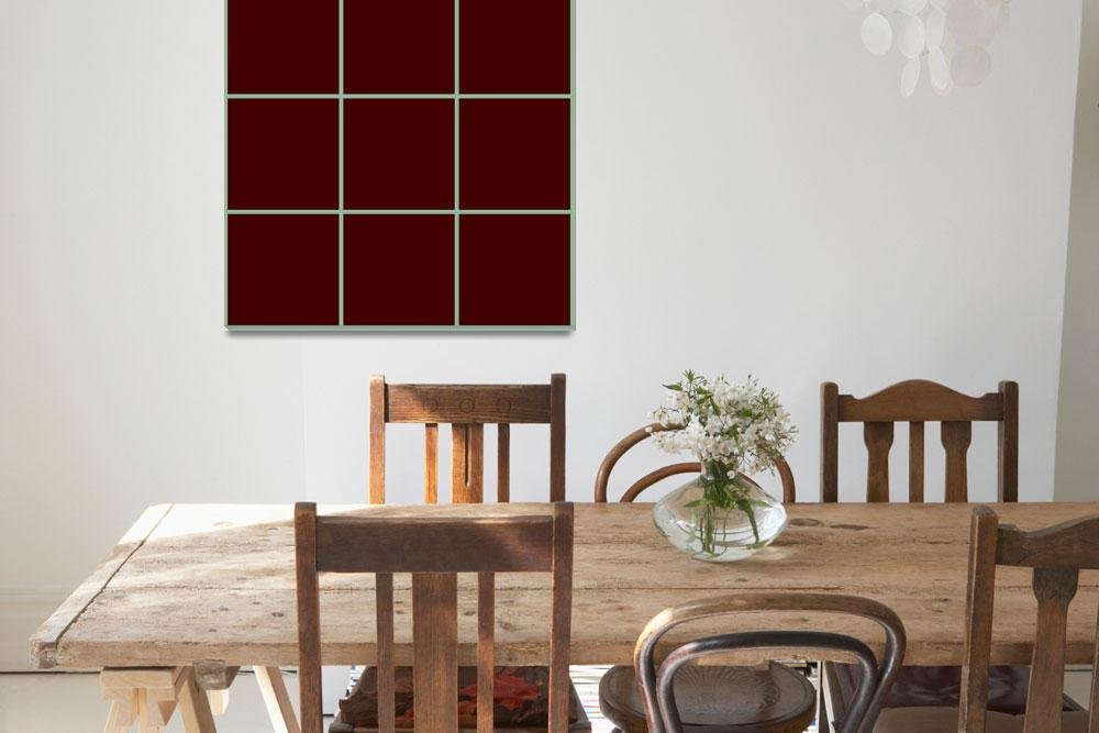 """Brown Window 127 Canvas Contemporary Modern&quot  (2010) by Ricardos"