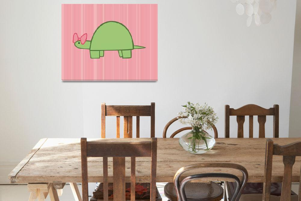 """Girl Turtle Nursery Art&quot  (2011) by ChristyBeckwith"