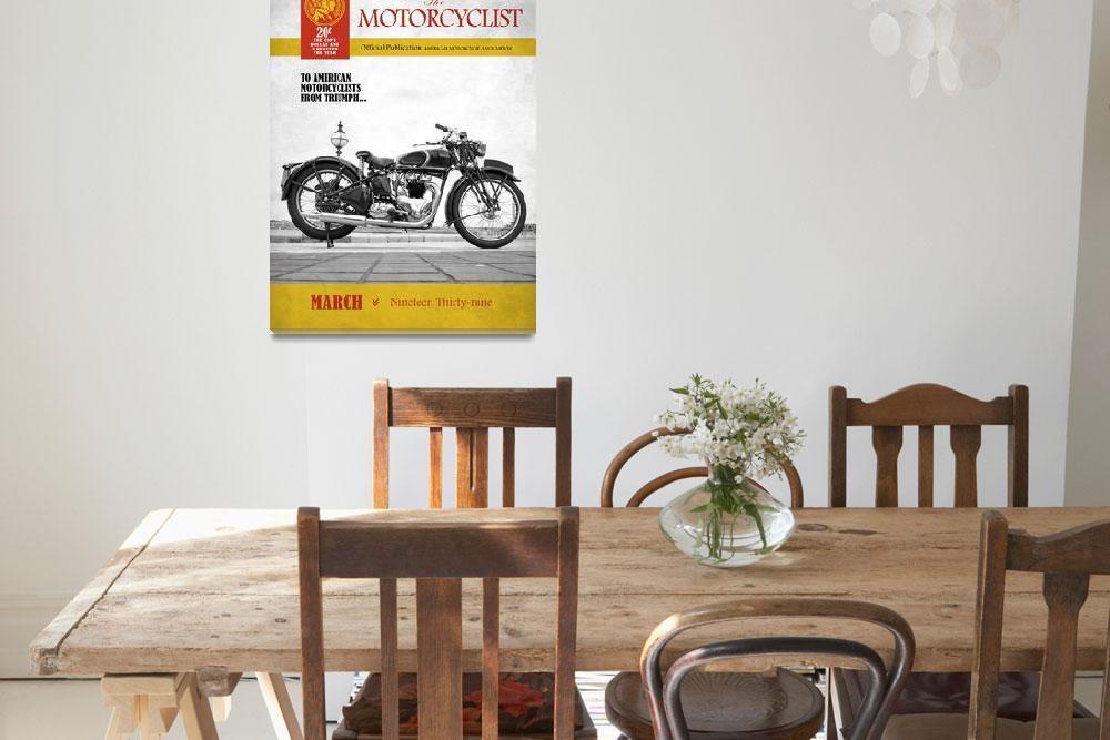 """Motorcycle Magazine Triumph Speed Twin 1939""  (2011) by mark-rogan"