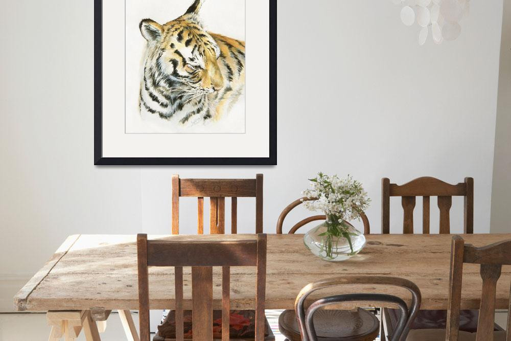 """""""Bengal tiger&quot  (2004) by LisaMclaughlin"""