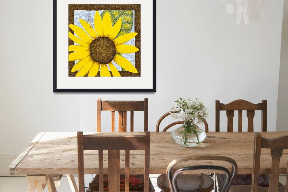"""""""Wee Sunflower 3&quot  (2009) by ArtbyJudyNewcomb"""