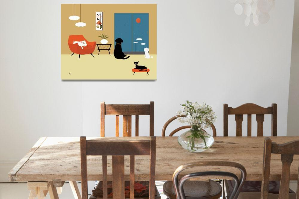 """Mid Century Modern Animals&quot  (2015) by DMibus"